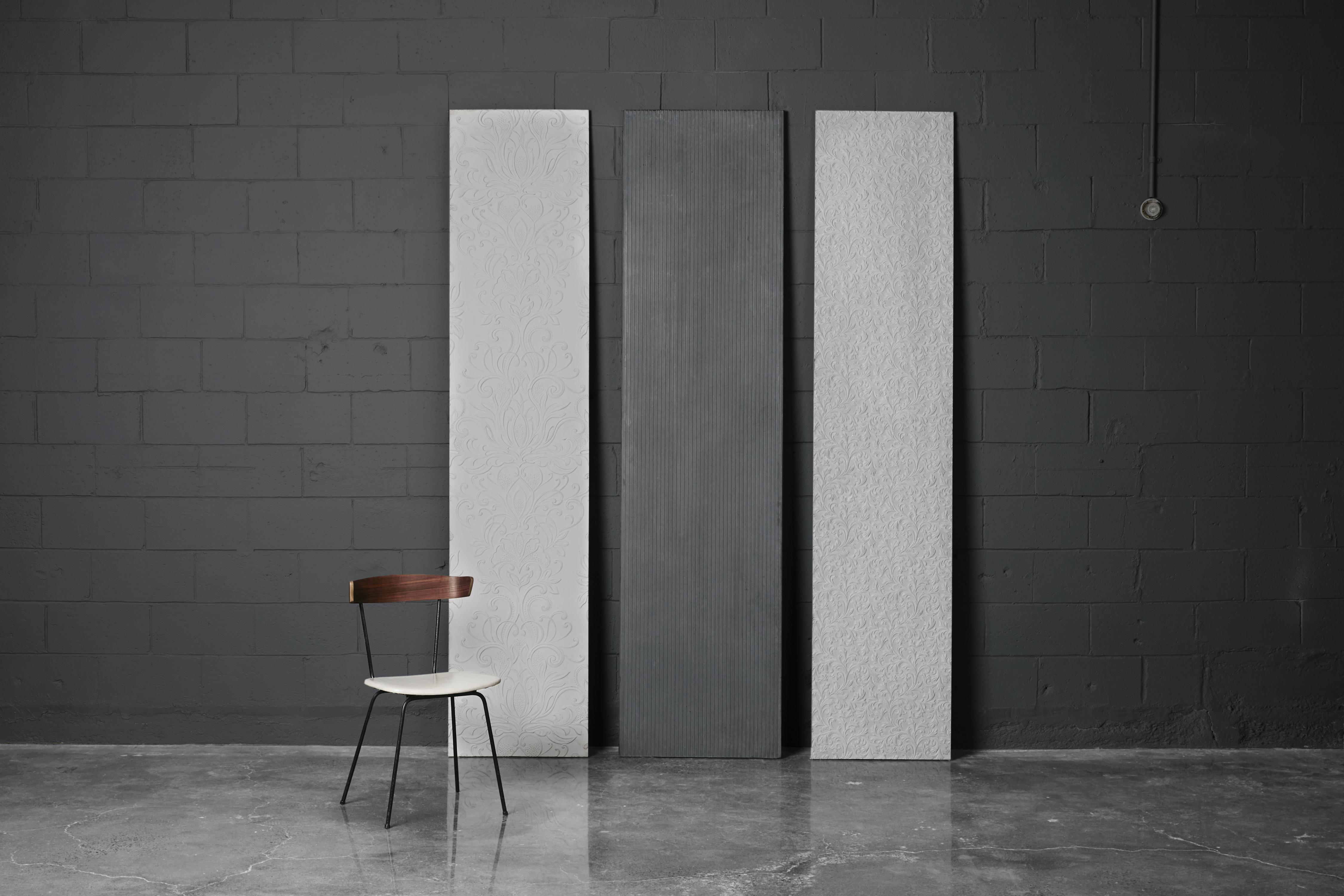 panneaux de b ton d coratif et murs effet tapisserie atelierb. Black Bedroom Furniture Sets. Home Design Ideas